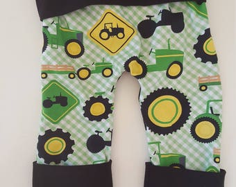 maxaloones - boy maxaloones - baby outfits - baby boy clothes - kids farm clothes - boy clothes - cloth diaper pants - grow with me pants