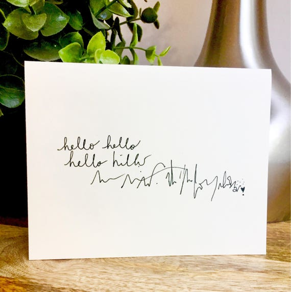 Set of 10 Blank Notecards, Hello card, Hand Lettered Thank You Card Set, Bulk Note Cards hello, handmade notecards