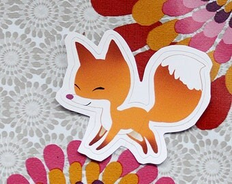 NEW Happy fox sticker