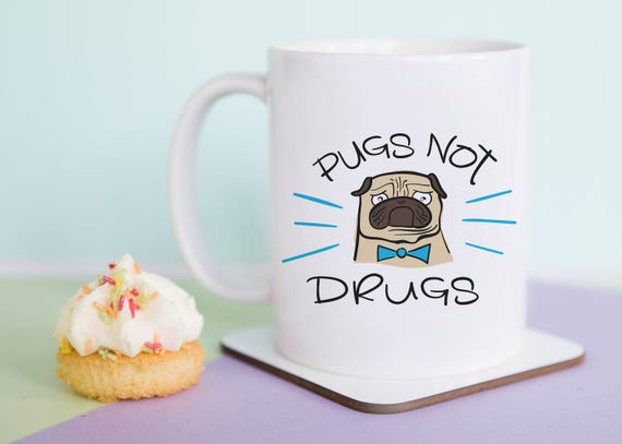 Pugs Not Drugs Mug (With Gift Box)