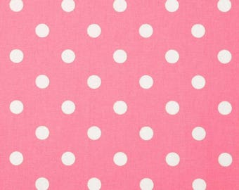 Premier Prints Fabric | Polka Dot Dot Fabric | Designer Fabric | Upholstery Fabric Baby pink fabric | Fabric by the yard | polka dot fabric