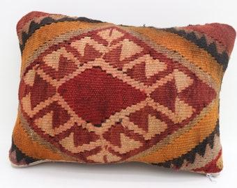 10x15 bothsided kilim pillow both side turkish kilim rug pillow geometric pillow turkish boho pillow bohemian pillow SP2638-1