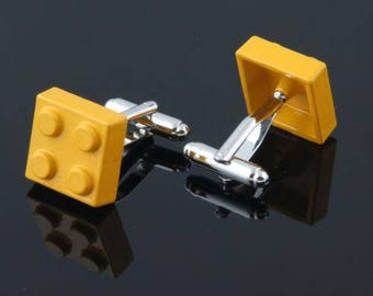 Lego Cufflink -B81  - Free Gift Box