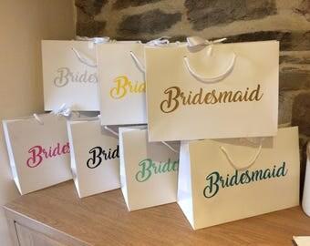 Bridesmaid gift bag | Etsy