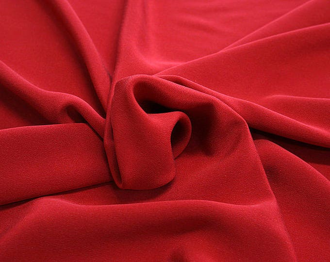 305102-Crepe marocaine Natural Silk 100%, width 130/140 cm, made in Italy, dry cleaning, weight 215 gr
