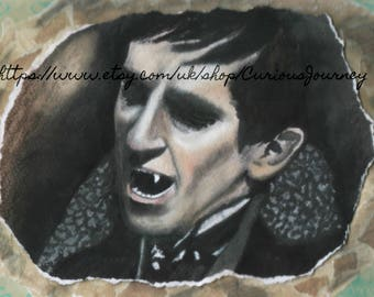 Unframed print of a portrait of Barnabas Collins, vampire from Dark Shadows.