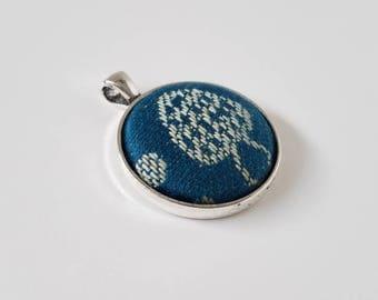 Wrap Scrap Jewelry - Pendant - Baie Slings - Portobello Button - Wrap Scrap - Babywearing - Mushroom