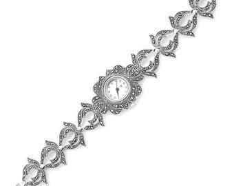 925 Sterling Silver, Marcasite Watch, Weighs 39.3 gram