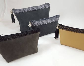 Leather clutch small size