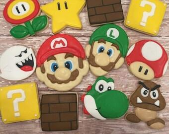 Video Game Themed Cookies (1 Dozen)