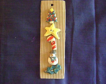 South African Hand-Painted Ceramic and Clay Buttons - Christmas