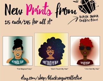 3 Afro Prints Package