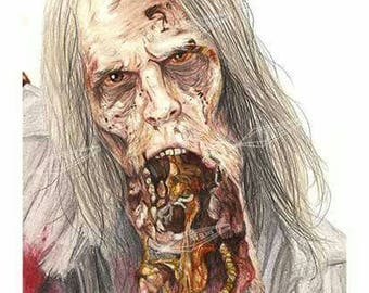 danglechin from The Walking Dead Art Print