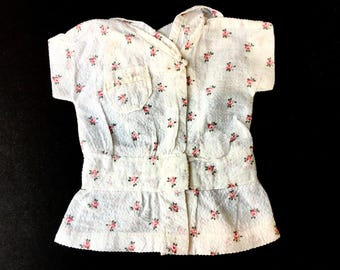 Cute Little Vintage Doll's Drop Waist Dress with Pink Roses