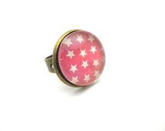 """Round ring pink collection """"Stars"""""""