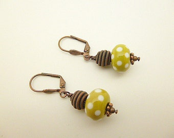 Hand made glass beads earrings