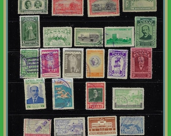 50 Panama Stamps - All Different