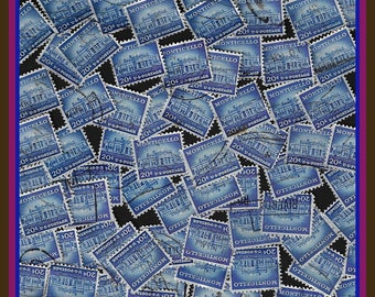 100 Blue Stamps - Stamp Art Projects - Monticello