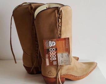 Western Boots Genuine Leather Women deadstock