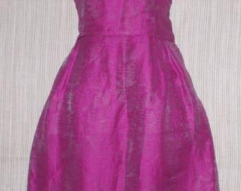 Armani Collezioni Pink Linen Silk Structured Fabric Sleeveless Dress Size: 8 (M)