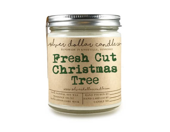 Christmas tree soy wax candle