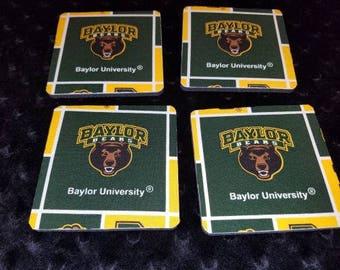 Baylor University 4 Piece Coaster Set