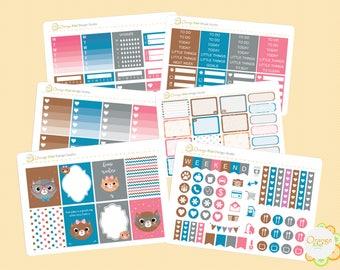 Nerdy Cat Weekly Kit, Erin Condren Life Planner, Happy Planner, Filofax, Plum Paper, Kikki K