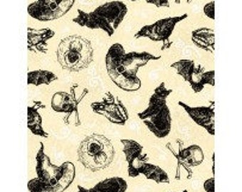 Wilmington Prints - Under A Spell 82511-191 Toss on Tan **Half Yard Cuts**