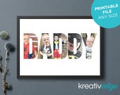 PERSONALISED PHOTO Name Print! Custom Name Print, Name Sign, Birthday Gift idea, Dad, Grandad, Poppy, Pappy, Baba. Any Name Any Size!