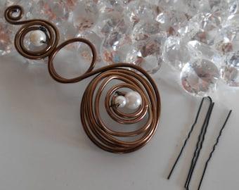 Wedding hair jewelry romantic arabesque
