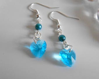 Heart and graceful earrings