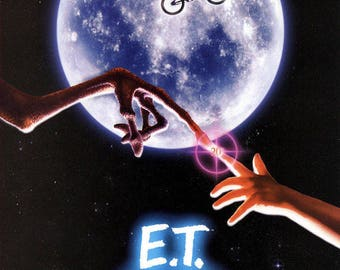 E T Movie Poster A3 or A4 Matt