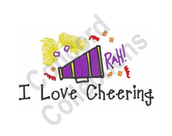 Cheering - Machine Embroidery Design, Cheerleader