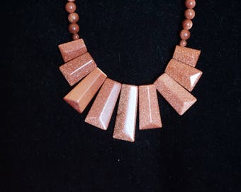 Gorgeous Gold Sandstone necklace
