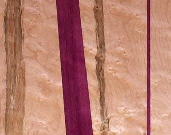 Birdseye Maple with Purpleheart heilght table