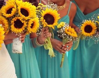 Sunflower Bouquet Set Wedding Package Bridal
