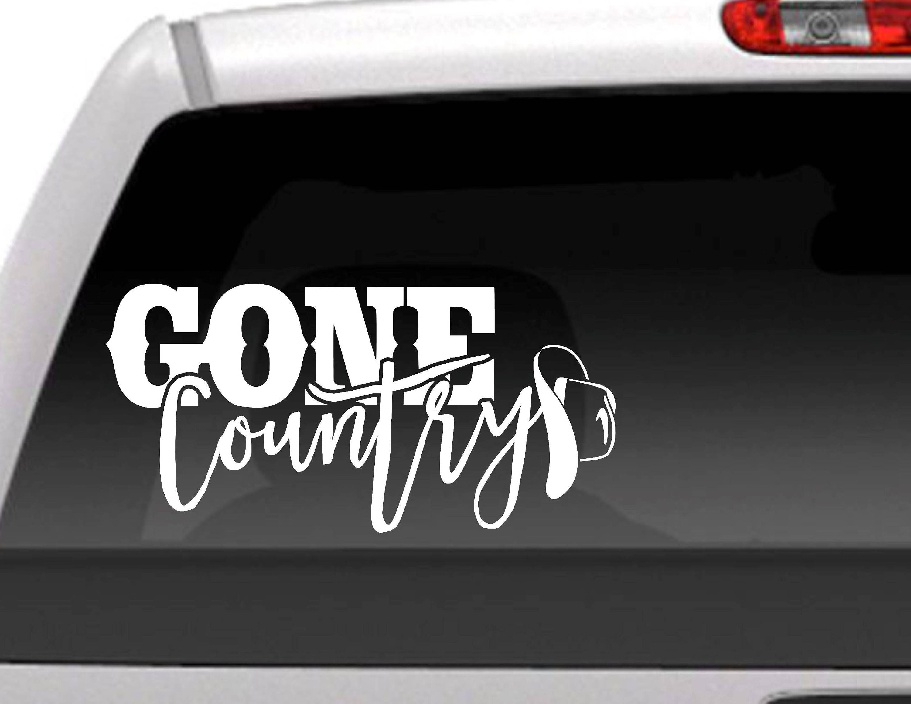 Gone Country Die Cut Vinyl Decal Sticker For Cars Trucks - Country custom vinyl decals for trucks