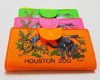 1992 Houston Zoo Wallet - Neon Orange