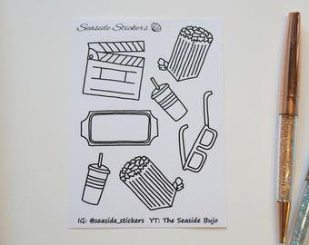 cinema || deco doodles || bullet journal stickers