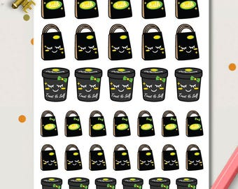 Lush Shopping Planner Stickers | Lush Stickers | Bath Pots