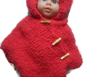 Red baby poncho
