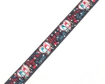 "Valentine's Day Ribbon   Love Is Tweet   Valentine Hair Bow   Lovebird Ribbon   Hair Bow Ribbon   US Designer Ribbon   7/8"" Ribbon"
