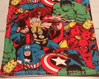Handmade Burp Cloths - Marvel Collection - Comics - Geek Baby - Nerd Baby - Marvel Baby - Superhero - Superhero Baby - Super Hero