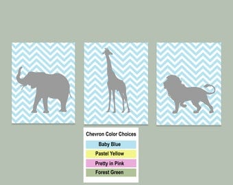 Nursery Room Animal Printable Wall Art 11x14