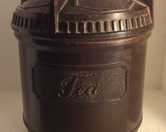 Bakelite tea caddy 1930s