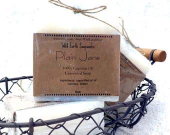 Plain Jane- 100% Coconut Oil, unscented soap