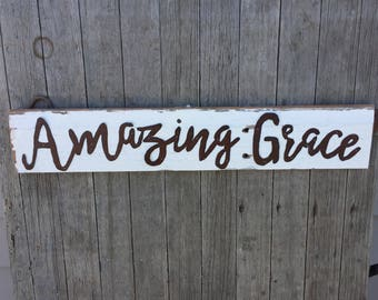 Amazing Grace Wall Decor amazing grace decor | etsy