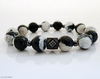 Black & White Bracelet Beaded Bracelet