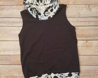 Mickey Mouse sleeveless hoodie