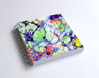 "Notebook 4x4"" decorated with motifs of marbled papers - 8"